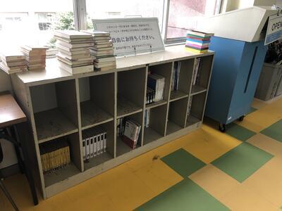場所は図書室前の廊下です